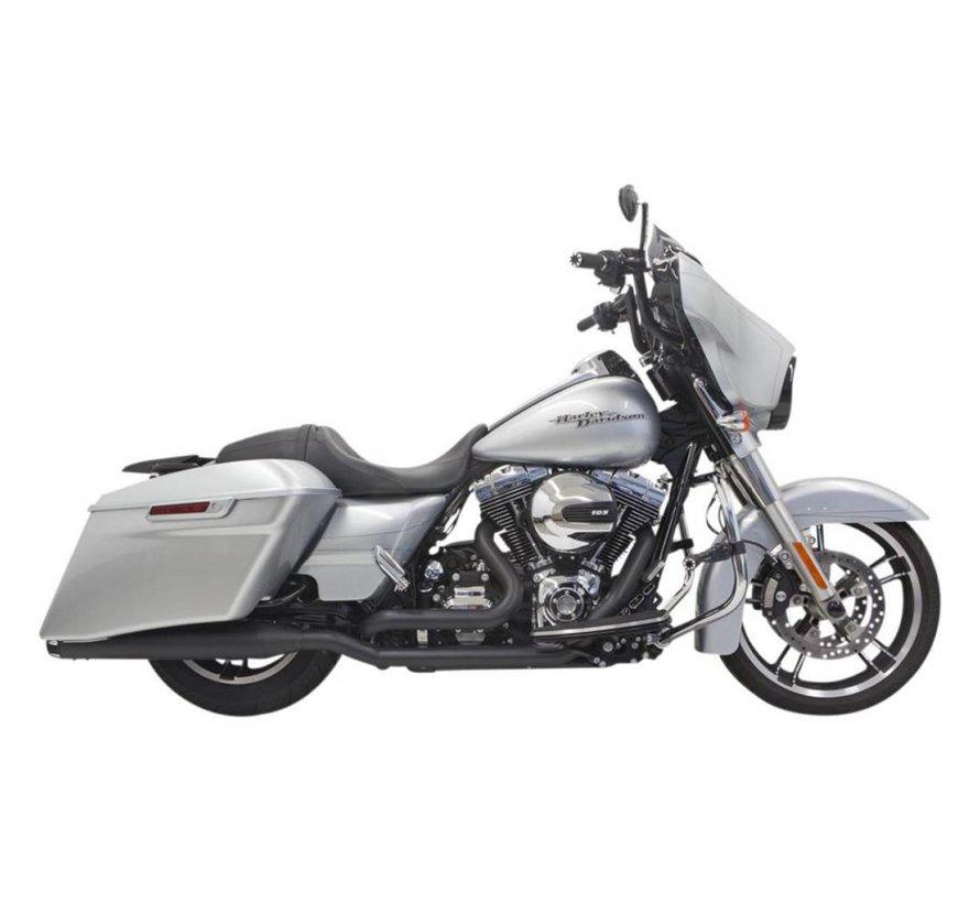 Harley Davidson Abgasdownunder 4inch 09-15FLH / FLT Chrom / Schwarz