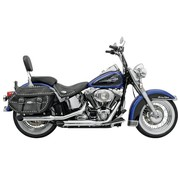 Bassani exhaust Slip-on Muffler Slash-cut 3 inch  Firepower Series 07-17 Softail - Chrome