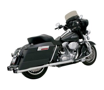 "Bassani 4 ""Slip-On Schalldämpfer Megafon 95-15 FLHT - Chrome"