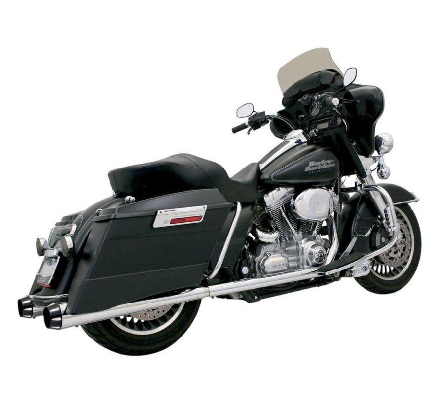 "Harley Davidson 4 ""Slip-On Schalldämpfer Megafon 95-15 FLHT - Chrome"