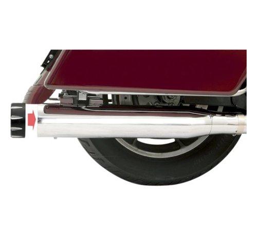 """Bassani Harley Davidson 4 """"Slip-On Schalldämpfer Quick Change FL 95-15 - Chrome"""
