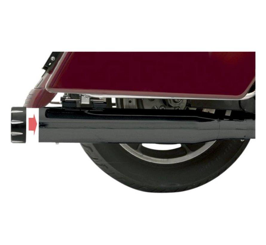 """Harley Davidson 4 """"Slip-On Schalldämpfer Quick Change FL 95-15 - Schwarz"""