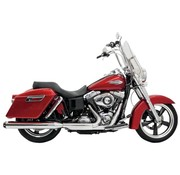 "Bassani 4 ""Slip-on Quick Change Mufflers Chrome - Convient 12-16 FLD"