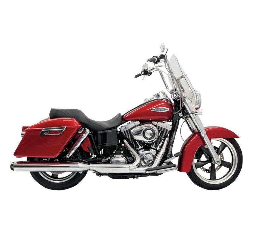 """Harley Davidson 4 """"Slip-on Quick Change Mufflers Chrom - passend für 12-16 FLD"""
