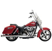Bassani exhaust 4 inch  Slip-On Mufflers Megaphone Chrome - Fits:> 12-16 FLD