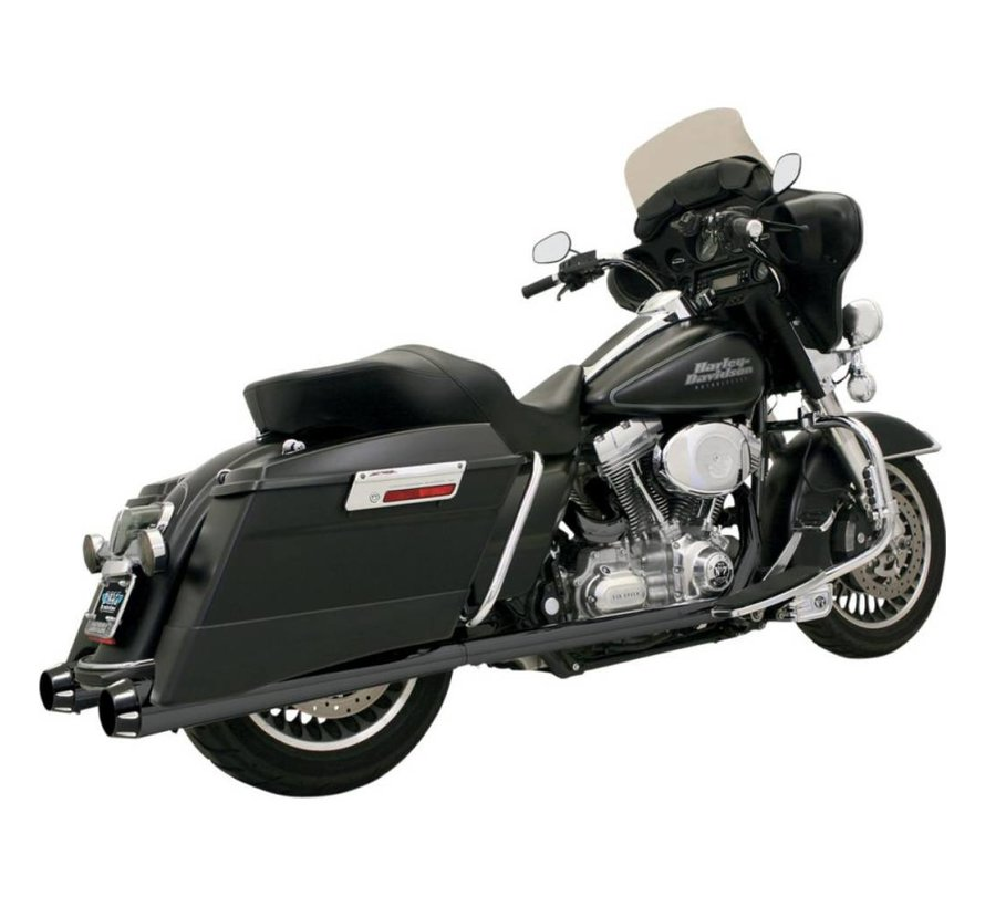 "Harley Davidson 4 ""Slip-On Schalldämpfer Tapered Megafon 95-15FL - Schwarz"
