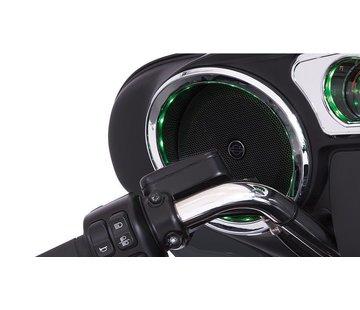 TC-Choppers Harley audio Speaker Trim Grill verlicht chroom 14-up FLHT
