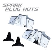 TC-Choppers Engine Spark Plug Huts Chrome 99-up Touring FLH FLT/ Softail/Dyna