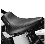 Le Pera seat solo Silhouette Basket Weave  Fits: > 84-99 Softail