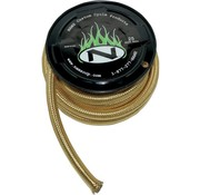 Namz Oil fuel/oil line braided hose - brass
