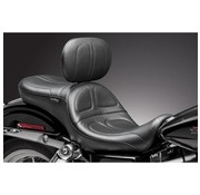 Le Pera Seat Maverick 2-up Smooth Backrest 06-16 Dyna FLD/FXD