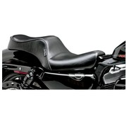 Le Pera seat Cherokee 2-up Smooth 04-06 and 10-20 Sportster XL with 3.3 Gallon Tank.