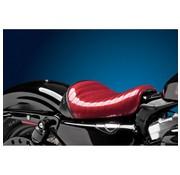 Le Pera Asiento Bare Bone Solo Flake de metal rojo plisado 04-06 y 10-17 XL Sportster