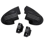 TC-Choppers handlebars master cilinder cover (without mirror) - black 14-16 FL Touring FLH/FLT