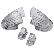 TC-Choppers handlebars master cilinder cover (with mirror) - Chrome 14-16 FL Touring FLH/FLT