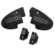 TC-Choppers handlebars master cilinder cover (with mirror) - black 14-16 FL Touring FLH/FLT