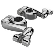 Controls Adjustable highway mount with extension arm - Chrome/Black