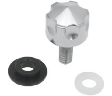 TC-Choppers seat knob stainless steel - 1/4-20