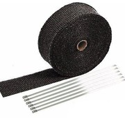 "TC-Choppers Exhaust insulating wrap. 2"" wide black Fits: > Universal"