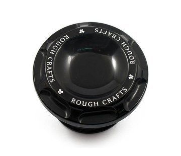 Rough Crafts gas tank gas cap Groove - Black 96-16 H-D Sportster XL