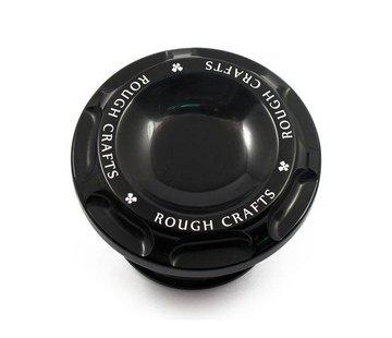 Rough Crafts tapa de la gasolina ranura - Negro 96-16 HD Sportster