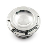 Rough Crafts gas tank gas cap Groove - Polished  Fits: > 96-20 Harley Davidson vented gas cap
