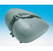 benzine tank 6 gallon platte Bob Fat-fit: 1984-1999 softail