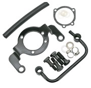 TC Choppers support bracket - Black; fits CV Carburetor (Evo) and Delphi Injection (twincam)