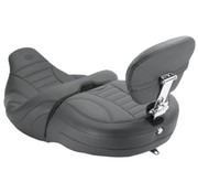 Mustang One-Piece Vintage 2-Up Touring seat with passenger backrest Freewheeling Trike 2015-up