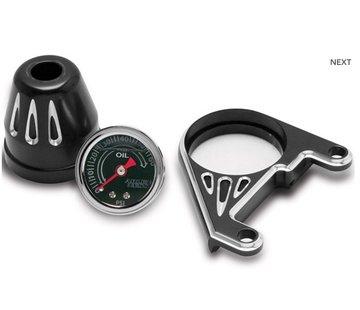 Arlen Ness Öldruckanzeige-Kit, tiefen Schnitt