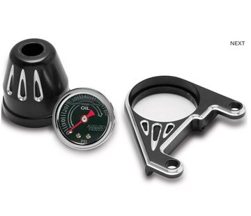 Arlen Ness Kit de jauge de pression d'huile, coupure profonde