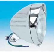 koplamp Chroom Springer stijl laat model met groeven en vizier