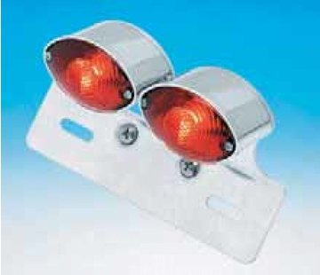 taillight cat eye dual mini with license bracket universal