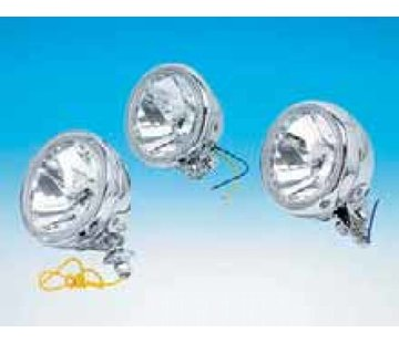 headlight auxiliary lights with diamond cut reflector