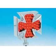 Cromo tocho de aluminio de la cruz maltesa LED luces de posición, par
