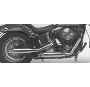 Supertrapp exhaust staggered dual systems for Softail