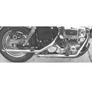 Cycle Shack exhaust drag pipes for late shovelhead 1971-1984 FX FXE FXB FXEF FXWG. (only 1 in stock)
