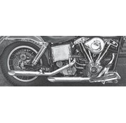 Paughco exhaust bold baloney-slice muffler pipes (only 1 in stock) Fits: > 1970- 1984 FL & FLH