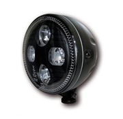 headlight LED EC approved Black or Chrome