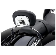 Cobra sissybar backrest inserts fit H-D detachable Touring FLH/FLT - Flag