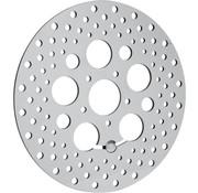 acero inoxidable pulido perforado rotor del freno - 08-13 FLHT, FLHR, FLHX, FLTR / X,