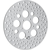 brake rotor polished stainless steel drilled - 08-13 FLHT FLHR FLHX FLTR/X