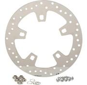 acier inoxydable poli percé frein rotor - Pour 14 - 16 FLHT / FLHX / FL TRX