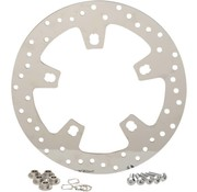 TC-Choppers brake rotor polished stainless steel drilled - for 14 - 16 FLHT/ FLHX/ FL TRX