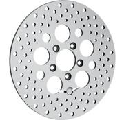acero inoxidable pulido perforado rotor del freno trasero - para 08 - 16 de FLHT, FLHR, FLHX, FLTR / X