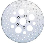 poliertem Edelstahl gebohrt Vorderradbremse Rotor - für 78-83 FX, FXR, FXWG, 77 FX, 78-83 XL