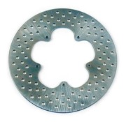 TC-Choppers brake rotor Stainless steel drilled 11.5 inch front - 74-77 XL FX