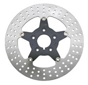 Zodiac brake rotor Floating disc with black center 5-star Front - Fits:> all single & dual disc 2000-2014 Sportster XL 2000-2007 Touring FLH/FLT 2000-2005 Dyna & 2000-up Softail.