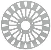 remrotor Voor Klassic RVS - Past op:> 08-16 FLHT FLHR FLHX FLTR H-D FL trike 14-16 FLHRC 06-16 Dyna (met 3 25 inch boutcirkel)