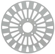 TC-Choppers remrotor Voor Klassic RVS - Past op:> 08-16 FLHT FLHR FLHX FLTR H-D FL trike 14-16 FLHRC 06-16 Dyna (met 3 25 inch boutcirkel)